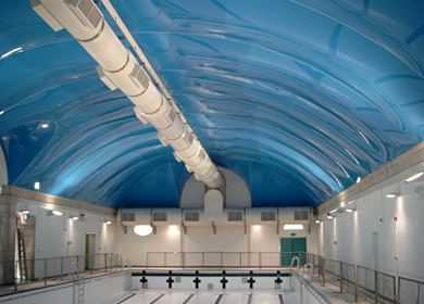 <h3>Commercial swimming pool ceiling </h3>