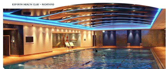 Commercial swimming pool ceiling