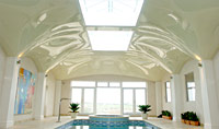 Private pool ceiling